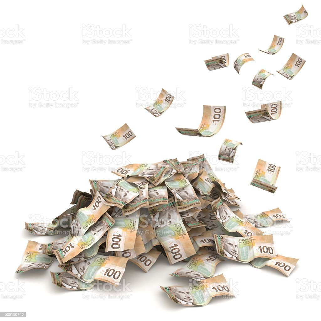 Canadian money concept stock photo