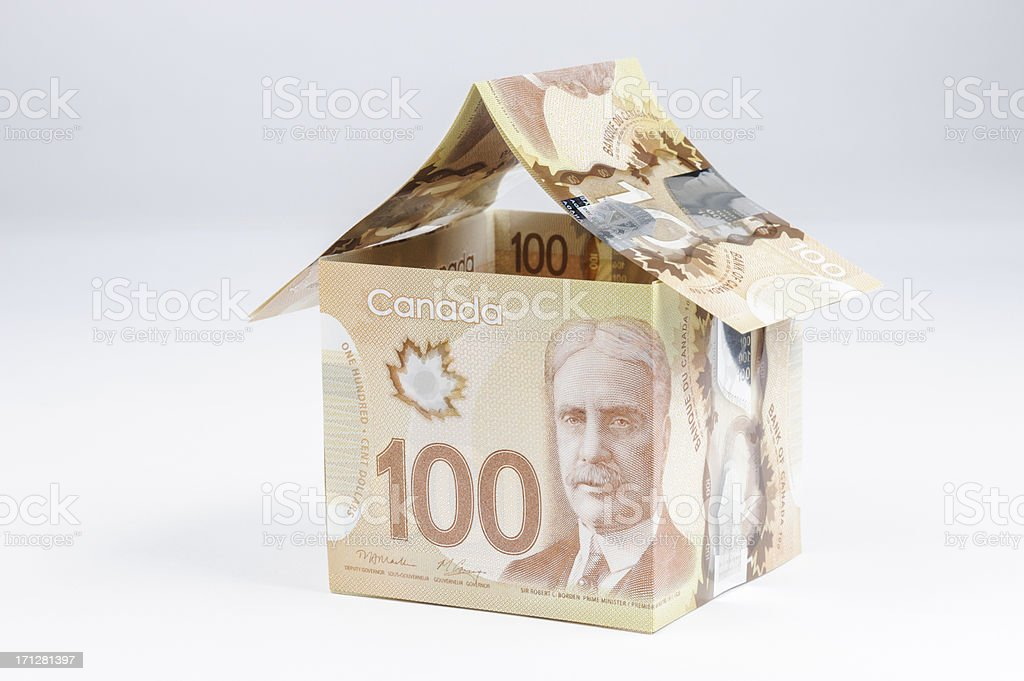 Canadian Money House stock photo