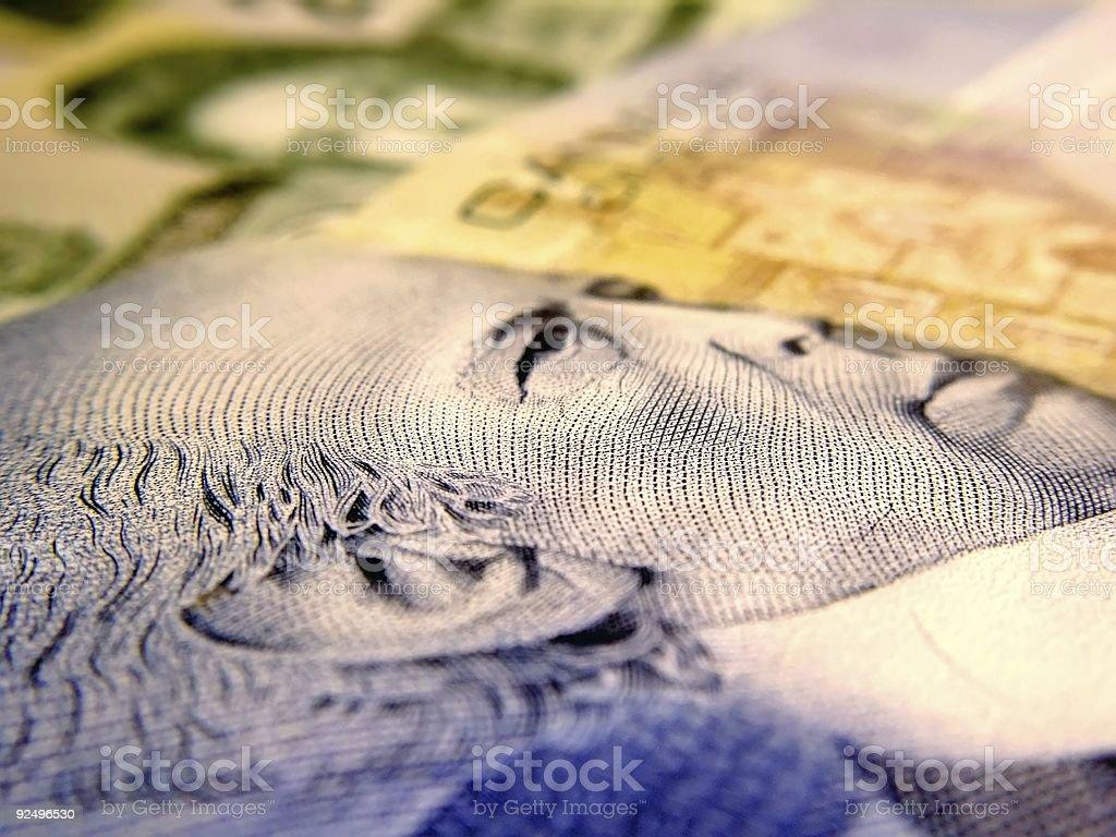 canadian money macro royalty-free stock photo