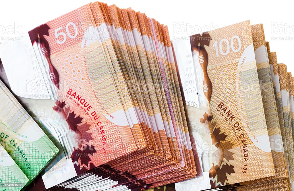 Canadian money royalty-free stock photo