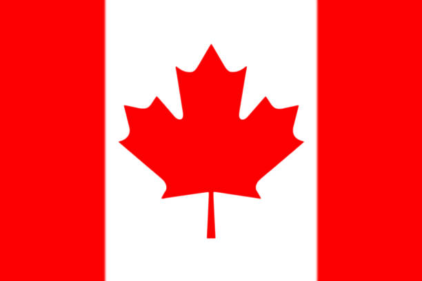 Canadian National Flag 3D Rendering stock photo