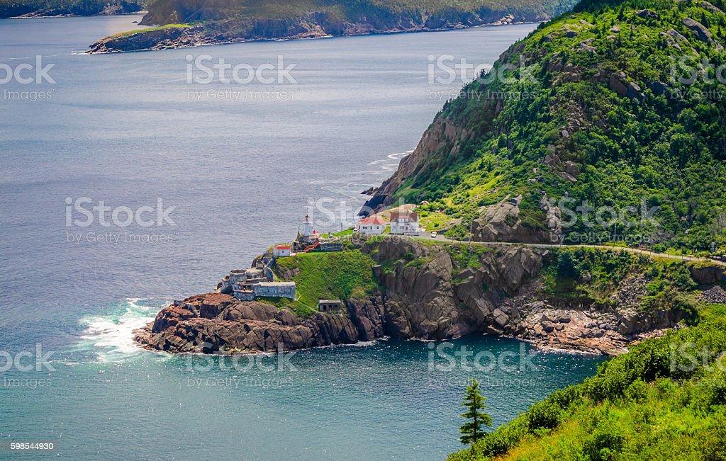 Canadian National Historic Site, Fort Amherst, St John's Newfoundland, Canada. photo libre de droits