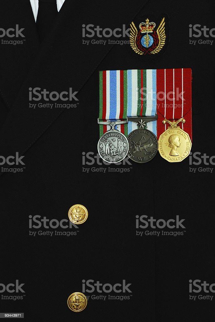Canadian navy uniform royalty-free stock photo