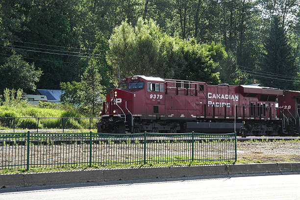 Canadian Pacific railway stock photo