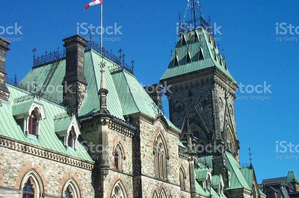 Canadian Parliament Building royalty-free stock photo