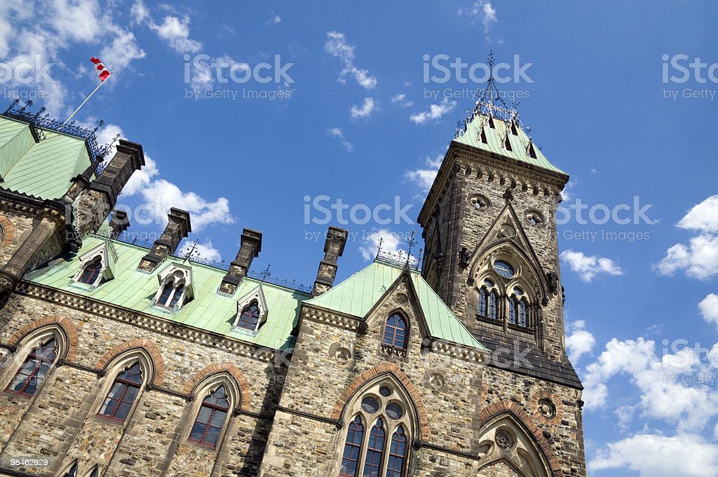 Canadian Parliament, East Wing royalty-free stock photo