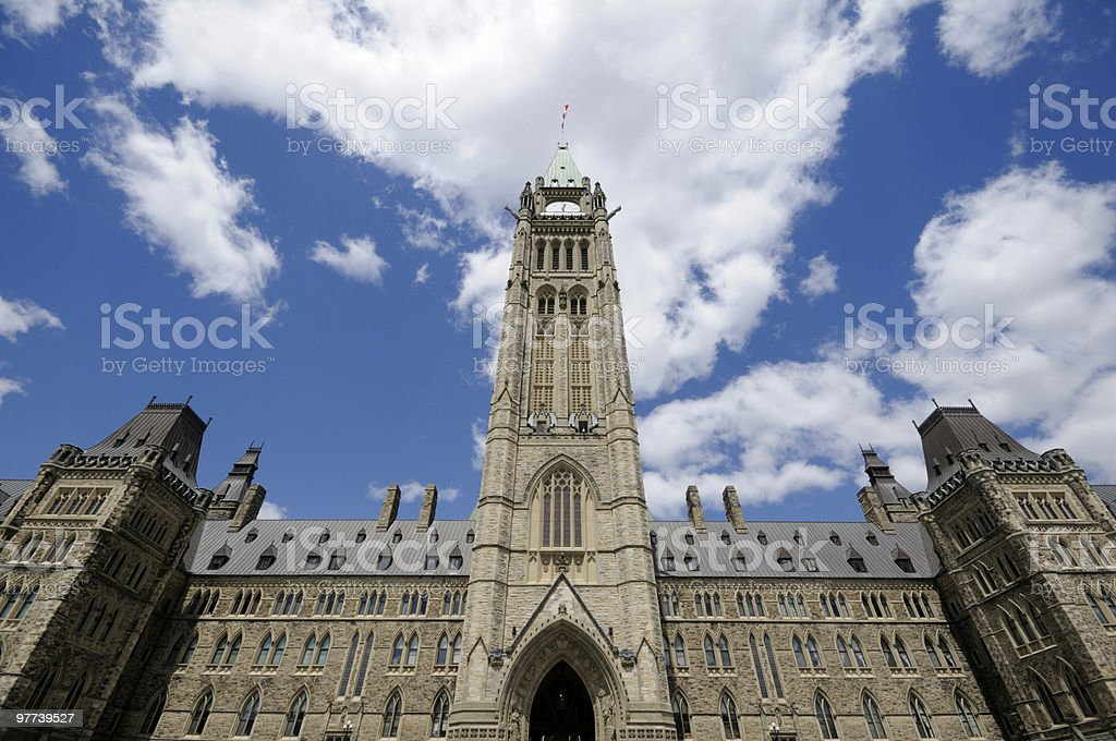 Canadian Parliament royalty-free stock photo