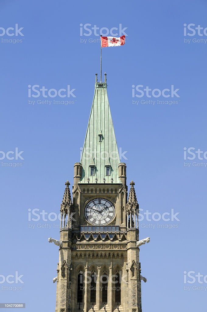 Canadian Parliament Tower royalty-free stock photo