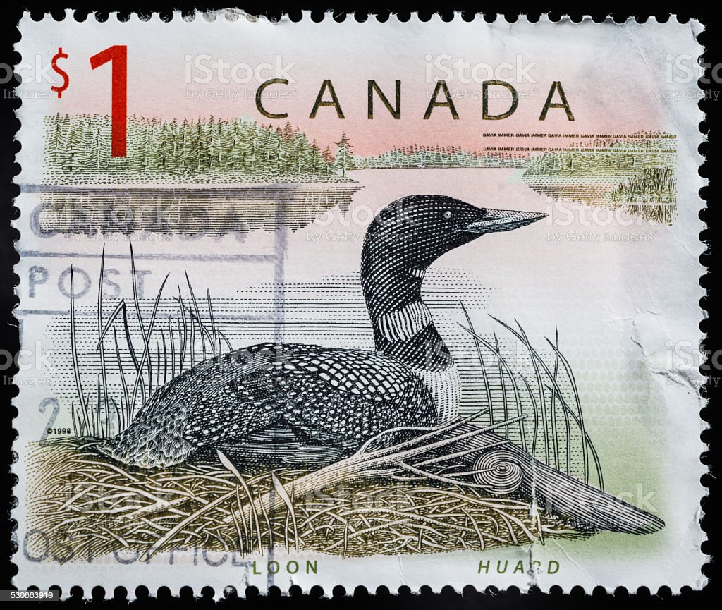 Canadian Postage Stamp stock photo