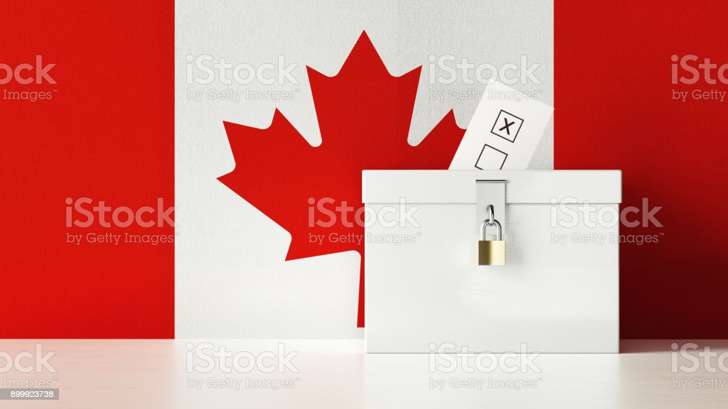 Canadian Presidential and Legislative Elections Concept stock photo