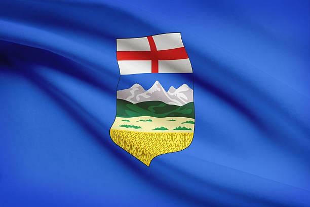 Canadian provinces flags series - Alberta stock photo