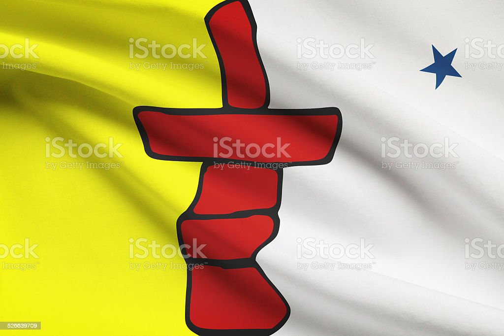 Canadian provinces flags series - Nunavut stock photo