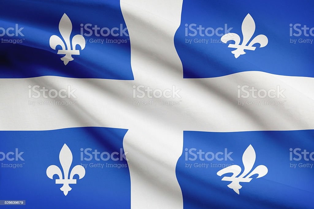 Canadian provinces flags series - Quebec stock photo