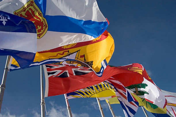 Canadian Provincial Flags stock photo