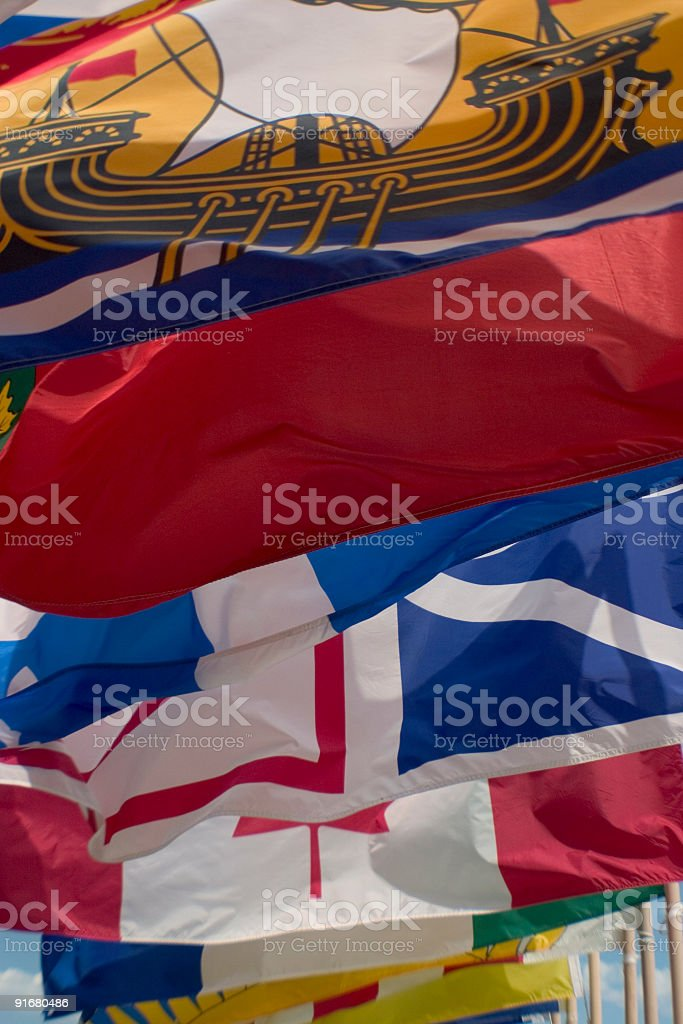 Canadian Provincial Flags royalty-free stock photo