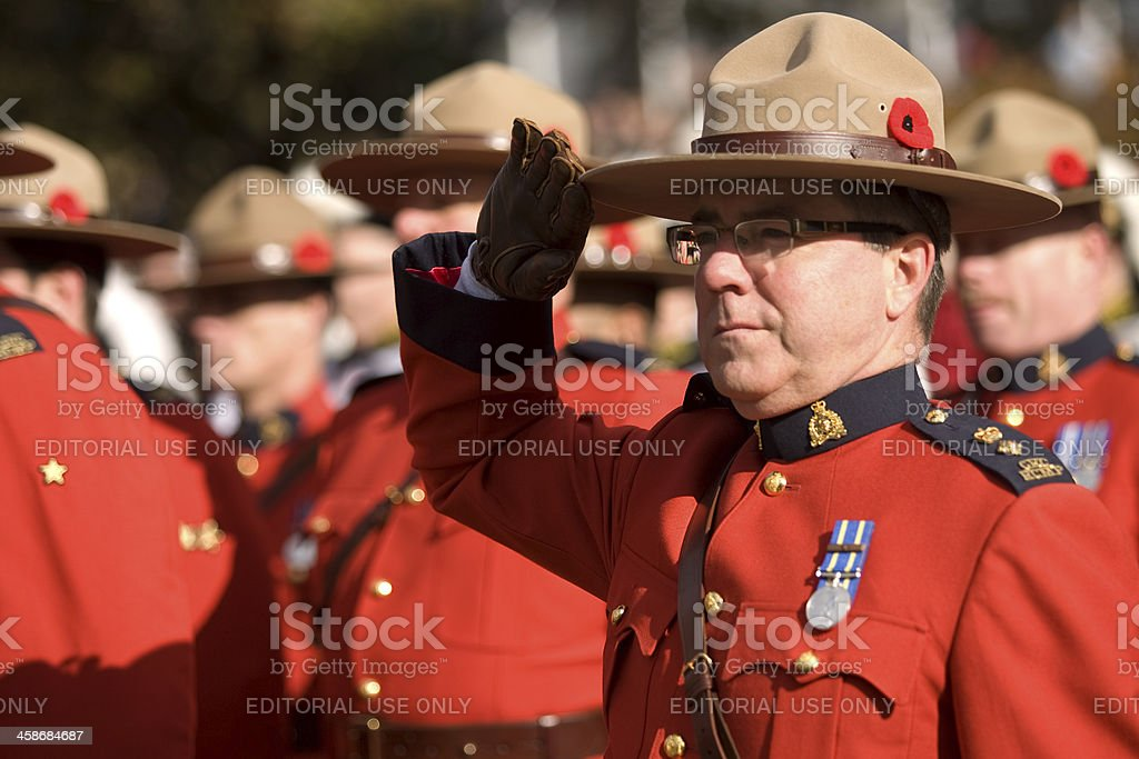 Canadian RCMP Officers royalty-free stock photo