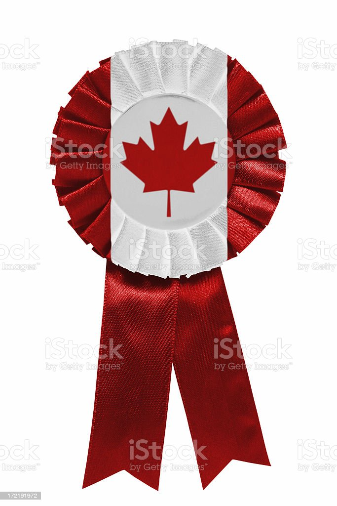 Canadian ribbon royalty-free stock photo