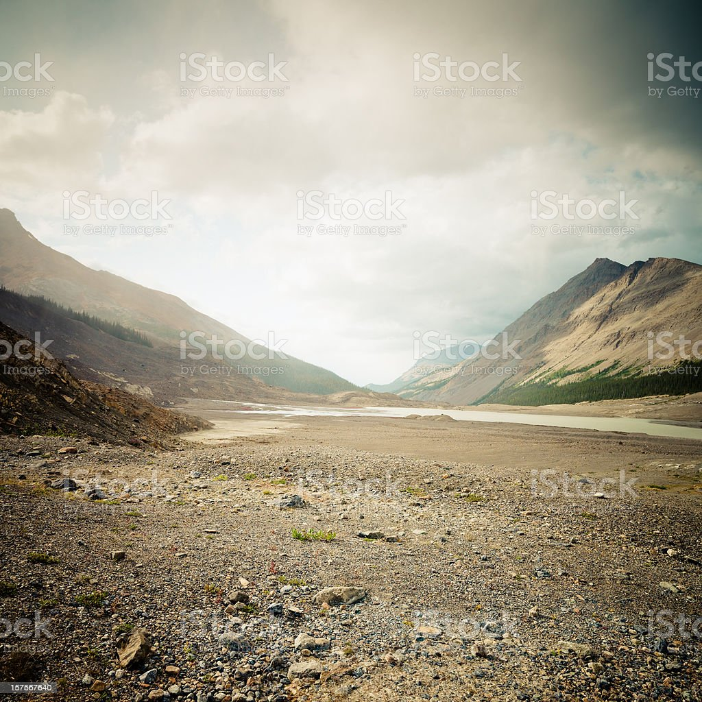 Canadian Rockies Columbia Ice Field stock photo