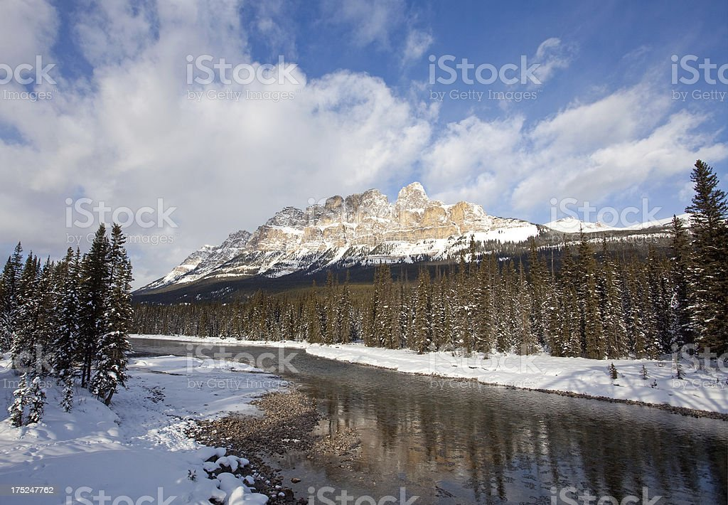 Canadian Rockies in Winter royalty-free stock photo