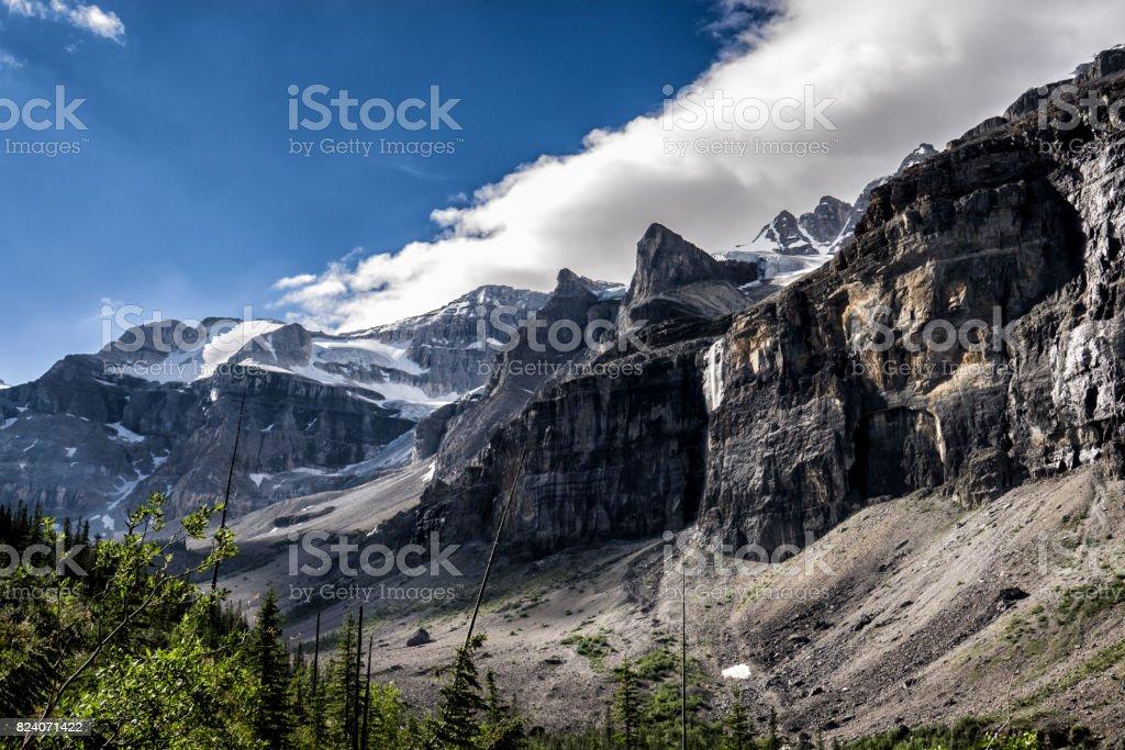Canadian Rockies.  Moutnains & Glaciers,  Kootenay National Park.  British Columbia stock photo
