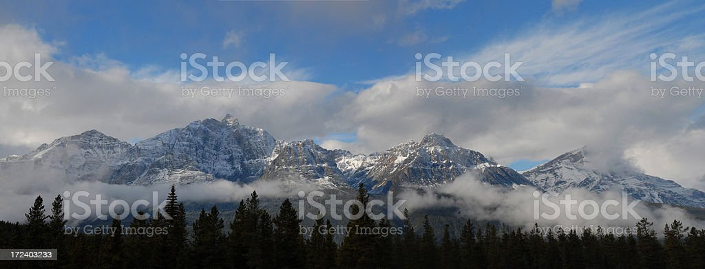 Canadian Rockies Panorama royalty-free stock photo