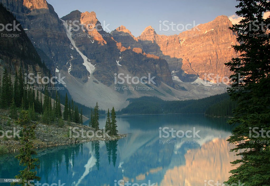 Canadian Rockies Scenic of Valley of the Ten Peaks royalty-free stock photo