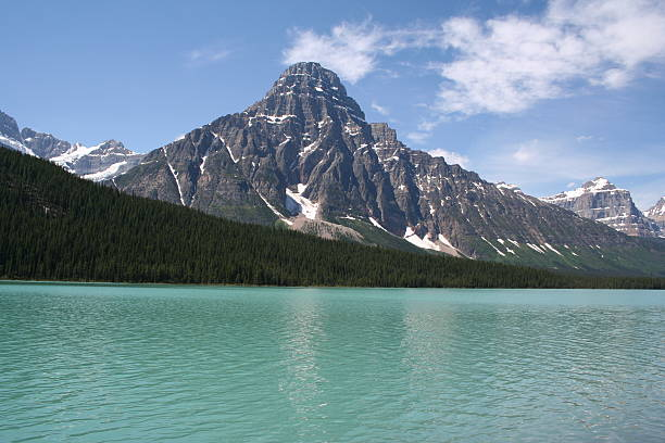 Canadian Rockies,Waterfowl Lake on the Icefields Parkway stock photo