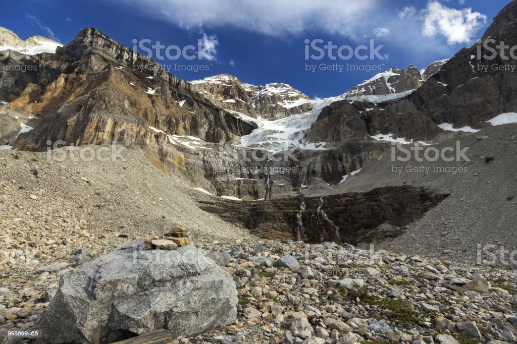 Canadian Rocky Mountains Landscape on Great Summertime Hiking Trail to Stanley Glacier in Kootenay National Park