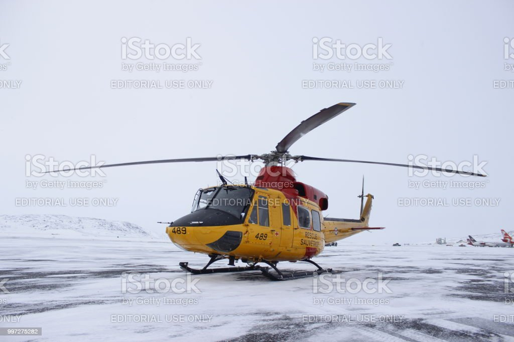 Parked on the apron, Iqaluit.