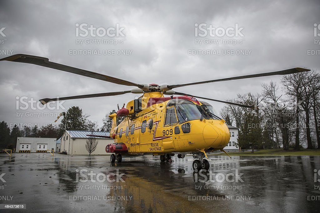 Canadian Search & Rescue Helicopter stock photo