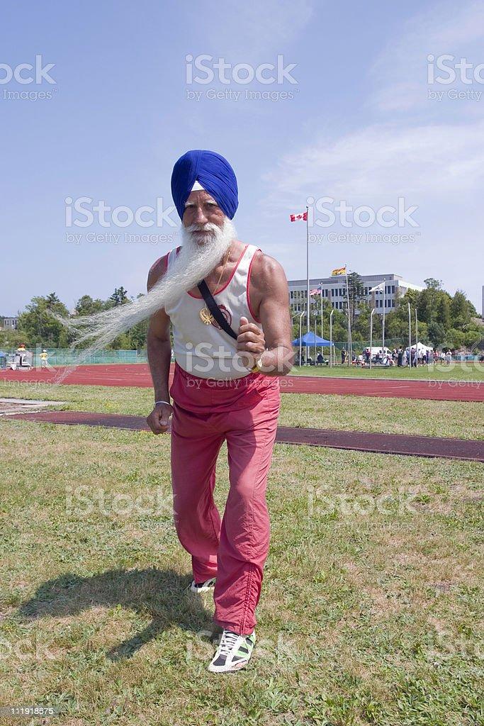 Canadian Sikh Masters Athlete stock photo
