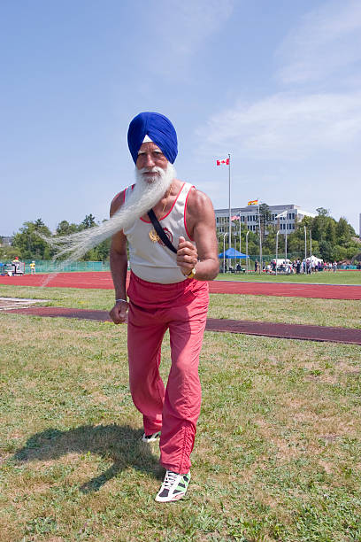 Canadian Sikh Masters Athlete stock photo