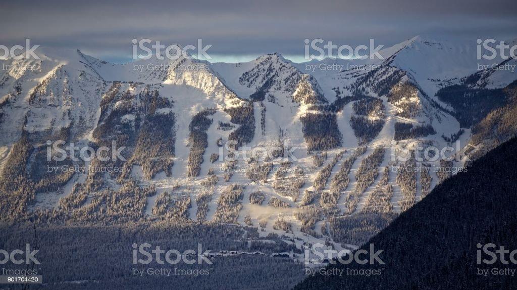Canadian Ski Resort stock photo