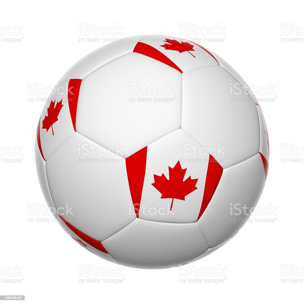 Canadian soccer ball stock photo