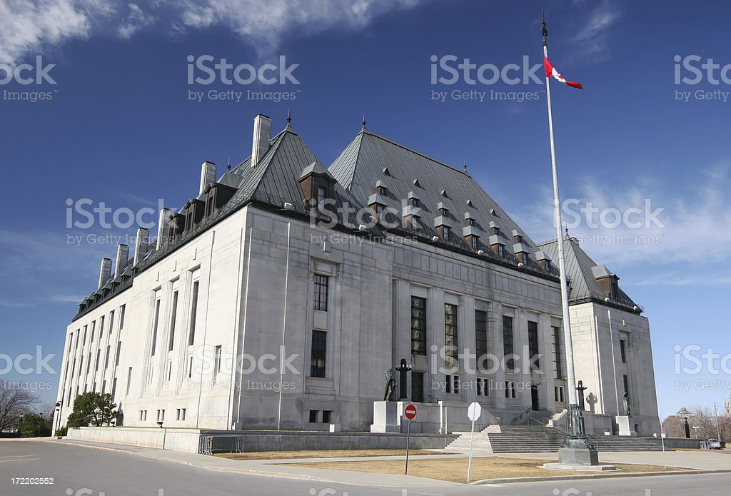 Canadian Supreme Court royalty-free stock photo