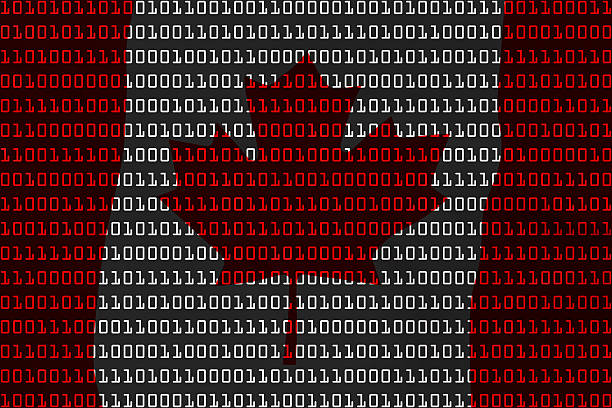Canadian Technology Concept - Flag of Canada in Binary Code stock photo