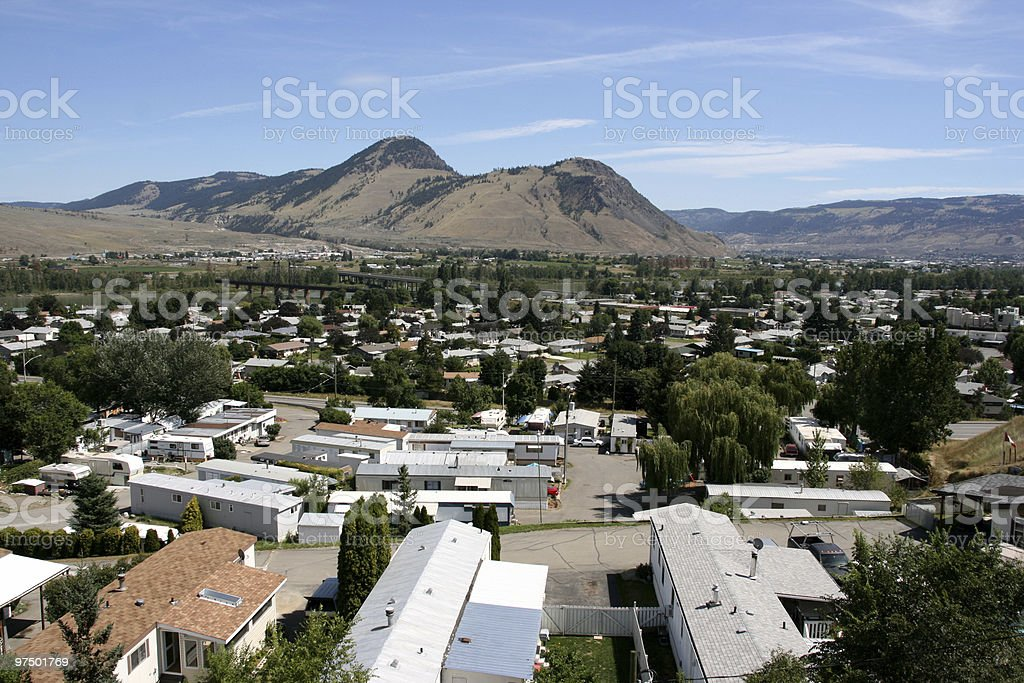 Canadian town - Kamloops stock photo
