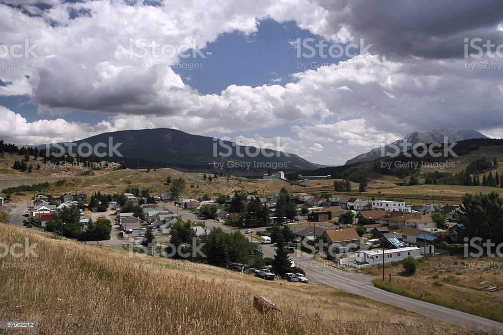 Canadian town royalty-free stock photo