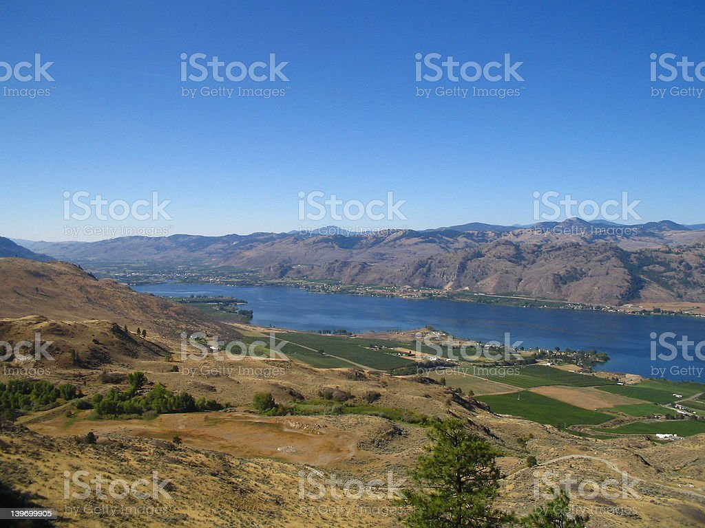 Canadian view of American border royalty-free stock photo
