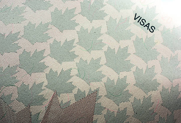 canadian visa sheet to be stamped when entering canada - パスポート/査証 ストックフォトと画像