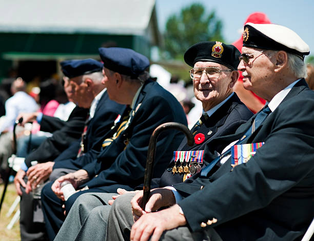 Canadian War Veterans stock photo