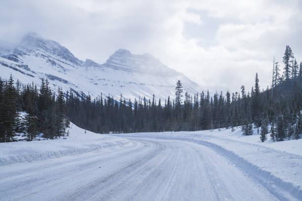 Canadian Winter Highway stock photo