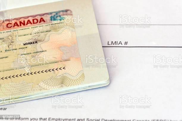 Canadian working visa and lmia labour market impact assessment paper picture id972481772?b=1&k=6&m=972481772&s=612x612&h=sru3mijufathzazj1xa7ggrqkzfrcgx lzbhgi qffc=