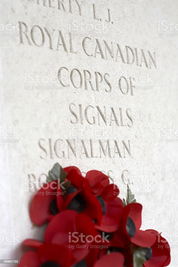 Canadian WWII Cemetery royalty-free stock photo