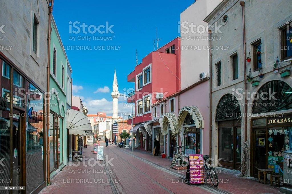Rues de la ville de Canakkale et les bazars, Turquie - Photo
