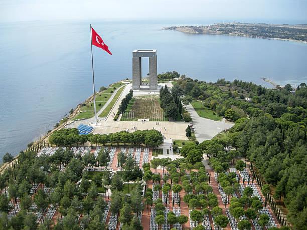 Canakkale Märtyrer-Gedenkstätte von oben, Türkei – Foto