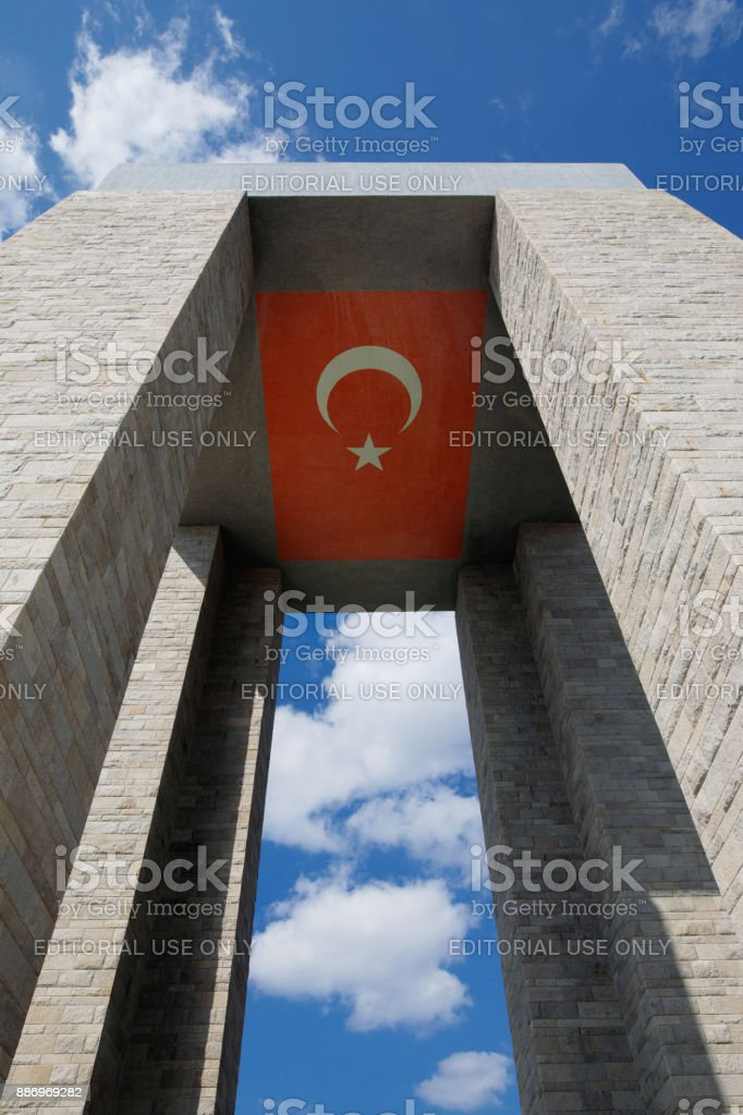 Canakkale Martyrs' Memorial, Turkey stock photo