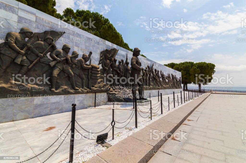 Mur du souvenir des Martyrs de Canakkale - Photo