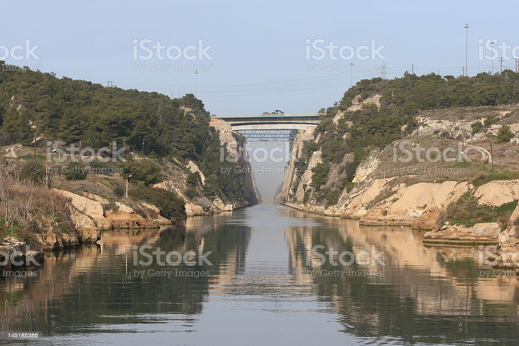 canal and bridges royalty-free stock photo