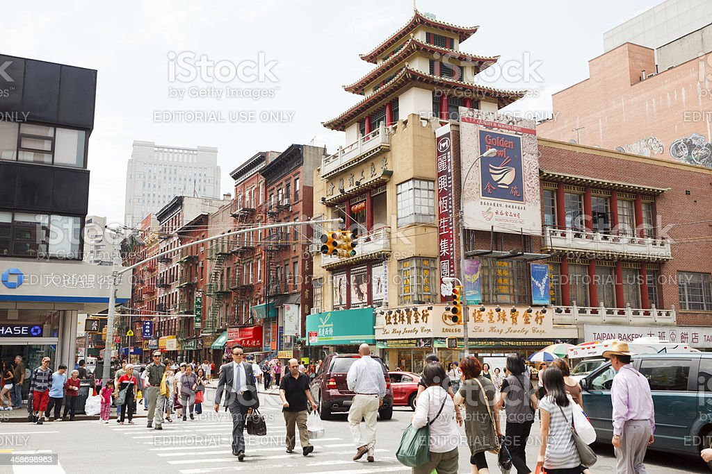 Canal and Mott Streets Chinatown New York City stock photo